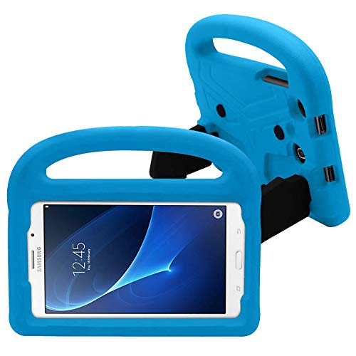 Dteck Kids Case for Samsung Galaxy Tab 3 Lite (SM-T110, SM-T111, SM-T113) /Tab 4 (SM-T230, SM-T235) /Tab A (SM-T280, SM-T285) /Tab 3 (SM-P3200) Tablet 7.0 Inch - Shockproof Handle Stand Cover, Blue