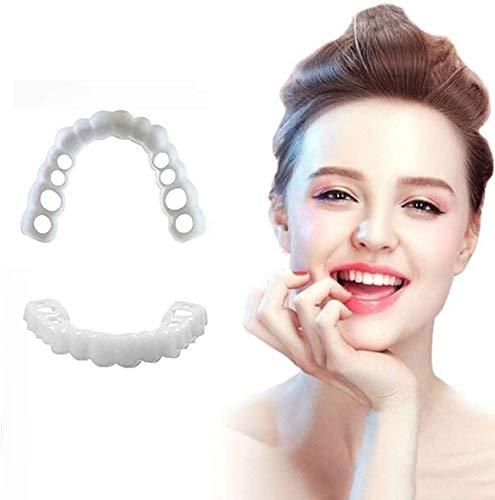 ASHTRAY Obere Zähne und Zähne künstliche Spitze/Zahn weiße Abdeckung/Silikon künstliche zahnärztliche künstliche Zähne (2 Sätze)