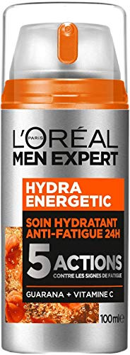 L'Oréal Men Expert - Hydra Energetic - Soin Hydratant 24H Anti-Fatigue pour Homme - 5 Actions - 100...