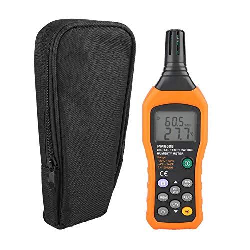 Medidor de humedad y temperatura Termómetro de alta precisión digital LCD Higrómetro de mano