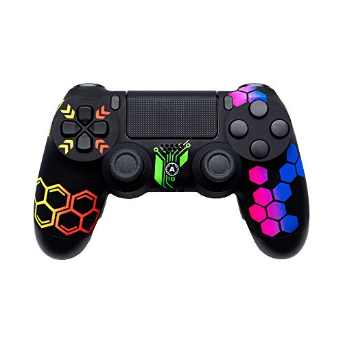 AimControllers PS4 Custom Wireless Controller, PlayStation 4 Personalized Gamepad with 4 Paddles, Hive [video game] [video game]