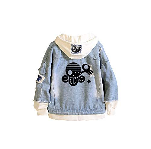 CXWLK ONE Piece Monkey D. Luffy Roronoa Zoro Portgas·D· Ace Unisex Sommer Super Leichte Outdoor Sonnenschutz Softshell Jacke Dünne Fahrradjacke,Blue,3XL