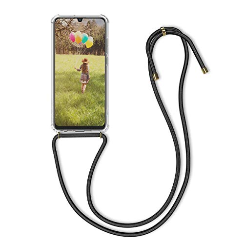 kwmobile Necklace Hülle kompatibel mit Huawei P Smart (2019) - Hülle Silikon mit Handykette - Band Handyhülle Transparent