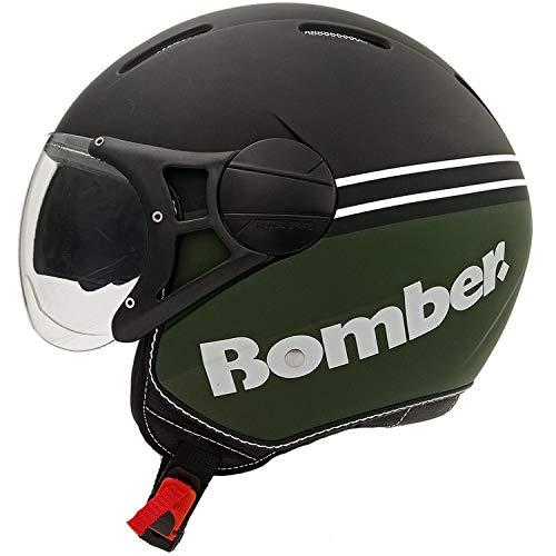 Rodeo Drive RD107N LUX casco scooter moto con visierino da sole