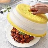 JAWSEU Tapadera para Microondas, Plástico sin BPA, Tapa de Salpicaduras de Tapa para microondas Plegable Colador Plegable silicona para Salpicadura de la Tapa
