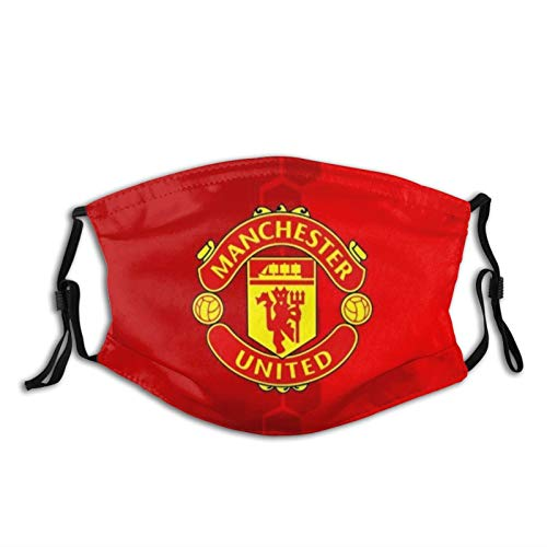 Nicegift Man-Chester United Man Utd Mu-Fc Mask Face Mouth Cover Bandanas For Dust Balaclavas Out Doors Festivals Sports 5.9x7.9 Inch(15 X 20 Cm)