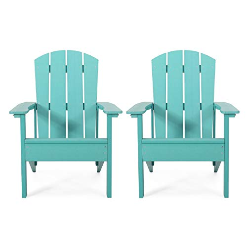 Christopher Knight Home 312837 Claudia Outdoor Adirondack Chairs (Set of 2), Teal