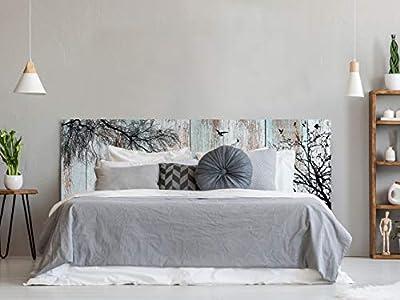 Cabecero fabricado en PVC de 5mm Cabecero de Cama impreso digitalmente en PVC Cabecero Ecónomico ideal para decoración de habitaciones Fácil colocación, resistente, ligero, aislante y de larga durabilidad Medidas: 200 cm de largo x 60 cm de alto