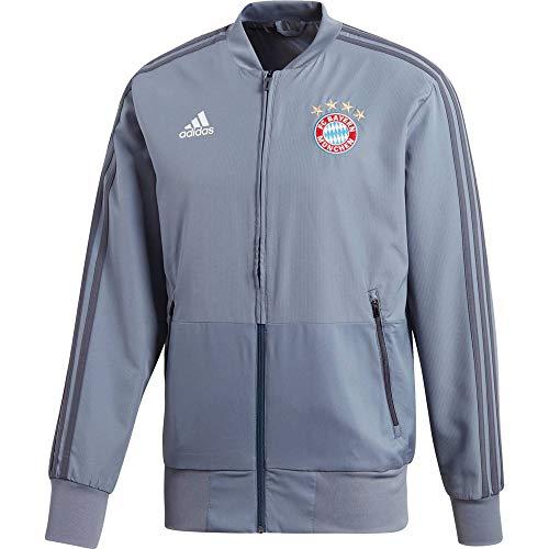 adidas Herren 18/19 FC Bayern Präsentationsjacke, raw Steel, S