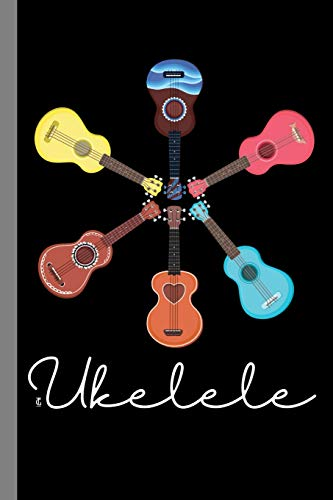 Ukelele: String Instrument Gift For Musicians (6'x9') Lined Notebook