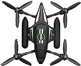 CYLYFFSFC Drone de nave espacial anfibio de mar, tierra y aire con control remoto, mini avión de acrobacias de juguete, aviones de alta velocidad de mar, tierra y aire, juguetes voladores al aire libr