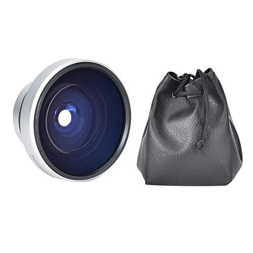 EBTOOLS Obiettivo Super Fisheye da 37 mm 0,25X, obiettivo aggiuntivo Fisheye per fotocamera con custodia per obiettivi per fotocamera calibro 37 mm