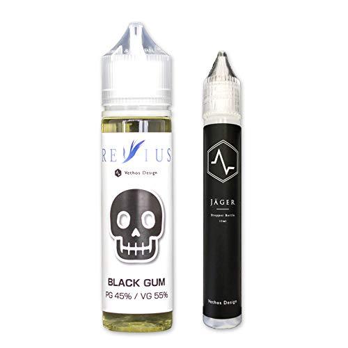 WVSJ神戸三宮店限定 Vethos Design REVIUS(レビウス)60ml ユニコーンボトル付き(15ml) 電子タバコ リキッド VAPE (BLACK GUM)