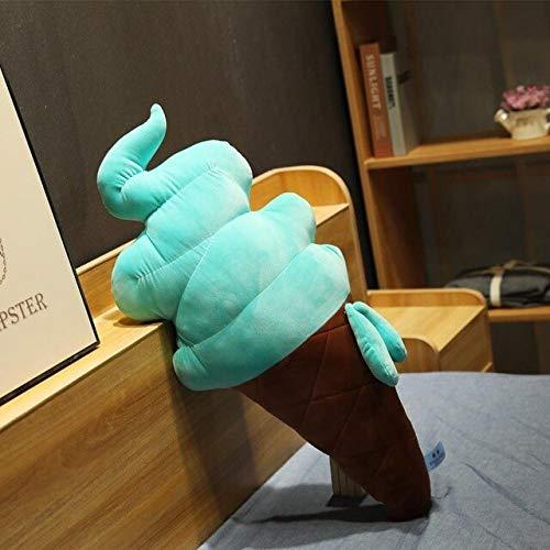 PBCX Cojín de Cono de Helado Lindo 3D cojín de Felpa de Paleta Almohada de Siesta Suave muñeca decoración de Regalo 70 cm Verde