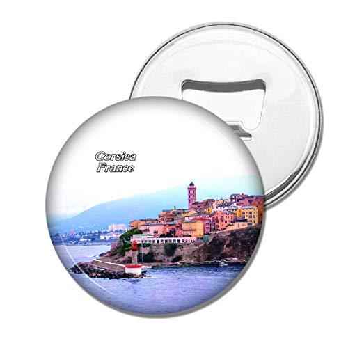 Weekino Frankreich Strand Porto-Vecchio Korsika Bier Flaschenöffner Kühlschrank Magnet Metall Souvenir Reise Gift