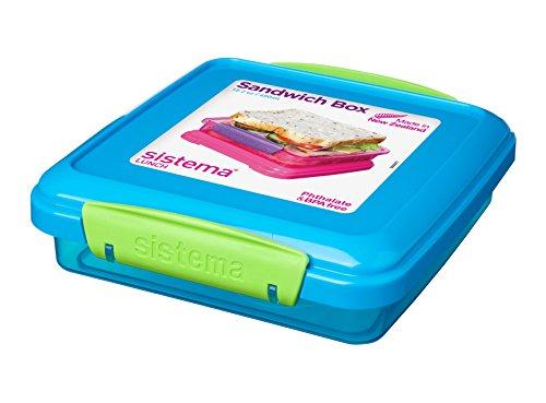 Sistema - Sandwichera de viaje (432 ml, plástico, 15,5 x 15 x 4,3 cm)