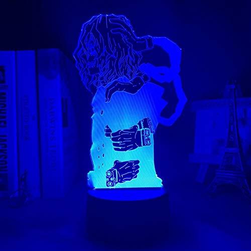 Regalos para niños Anime My Hero Academia Tomura Shigaraki Lámpara de luz nocturna LED utilizada para decoración de dormitorio regalo de cumpleaños Tom Decoración de dormitorio Luz de ambiente alta