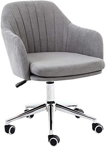 DFJU Cadeira de escritório com encosto médio Cadeira de Mesa giratória ergonômica com suporte lombar e Esponja acolchoada em emulsão macia Cadeiras de tarefa de computador com Altura ajustável