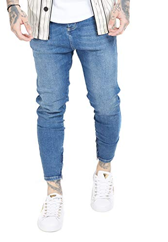 Sik Silk Jeans Herren Drop Crotch Denim SS-15105 Midstone Blue, Größe:XXL