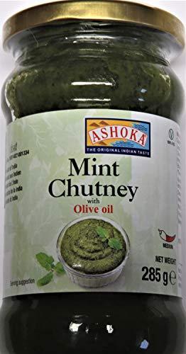 Minz Chutney mit Olivenöl 285g, Ashoka -
