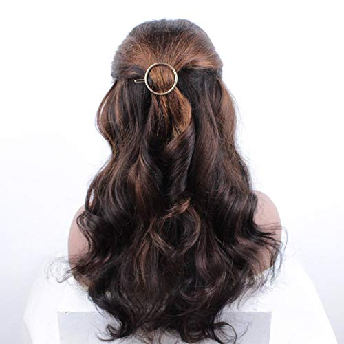 Elfmo Human hair wig lace appearance synthetic soft goddess wig, with a wig hat as a gift