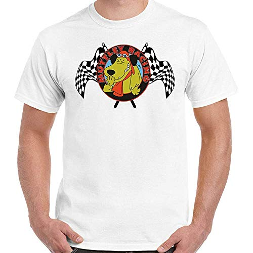 * NEW * Wacky Races Muttley with Chequered Flags T-shirt, S to 3XL