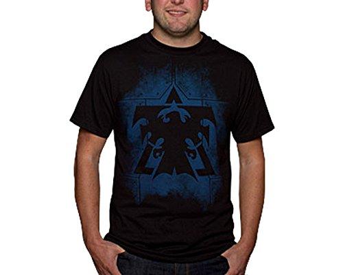 Starcraft II - Terran Plates Logo T-Shirt Herren Gamer Shirt Baumwolle schwarz J!NX - S