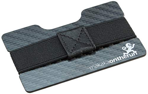 MakakOnTheRun MakakaOnTheRun RFID Blocking Carbon Ultra-Slim(2x1mm), Portafoglio. Unisex-Adulto, Nero