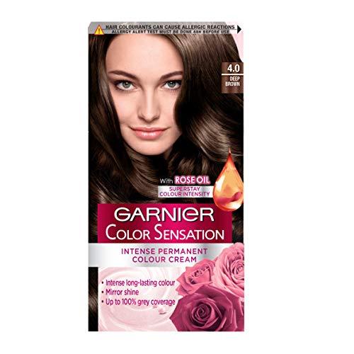 Garnier Color Sensation Brown Hair Dye Permanent 4.0 Deep Brown