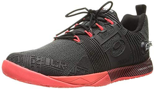 Reebok Women's Crossfit Nano Pump FS-w Cross-Trainer Shoe, Black/Neon Cherry, 8.5 M US
