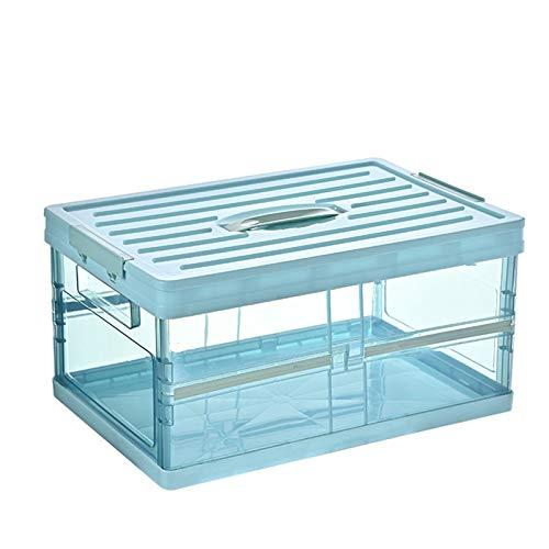 laoonl Caja de almacenamiento plegable de plástico resistente para guardar ropa, juguetes, libros, aperitivos, zapatos y alimentos