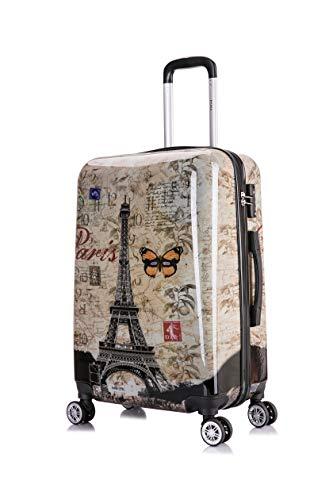InUSA PRINTS 24' Medium Lightweight Hardside Spinner 24' Luggage - Paris