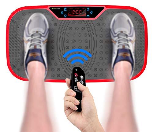 SportTronic ST-VP5 professionele trilplaat 3D rocker vibratietechnologie, XXL oppervlak: 68 x 38 cm, incl. trainingsbanden & afstandsbediening