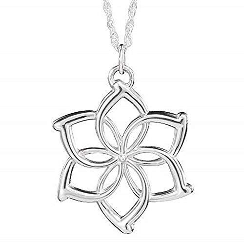 Lovelegis Galadriel Halskette für Frau - Blume - Film - Fernsehen - Silberne Farbe