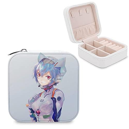Anime EvaJewelry - Caja de almacenamiento para joyas con compartimento para la gestión del hogar, viajes, pendientes de regalo, collar de moda
