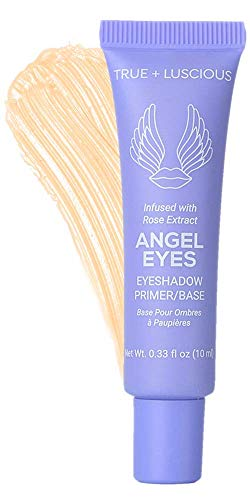 Angel Eyes Eyeshadow Primer by True + Luscious - Clean Formula with Rose Extracts - Vegan, Paraben Free, Cruelty Free Eye Primer - Great for Oily Lids & Prevents Creasing - 0.33 oz (Shade: Medium)