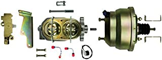 The Right Stuff Detailing G84310572 Disc front/disc rear dual booster, master cylinder, combination valve and steel brake lines. With booster mounting brackets