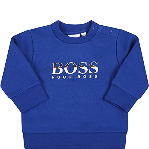 BOSS - Sudadera azul Royal para bebé con logo - 3 M, azul