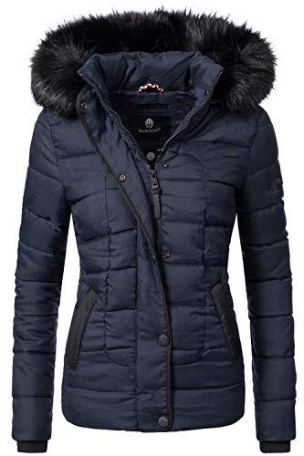 Marikoo Damen Winter Jacke Steppjacke Unique Blau Gr. XS