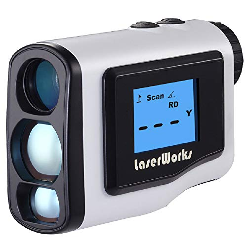 L.tsn 600m Handheld Golf Laser-Entfernungsmesser Mit Externe LCD Einstellbarer Fokus Zum Golfen Freie Batterie, White