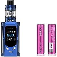 SMOK R-Kiss 200W Kit and TFV-Mini V2 2mL Tank Cigarrillo electrónico (Azul) con 2 X EFEST 3000 mAh Batería Sin Tabaco - Sin Nicotina