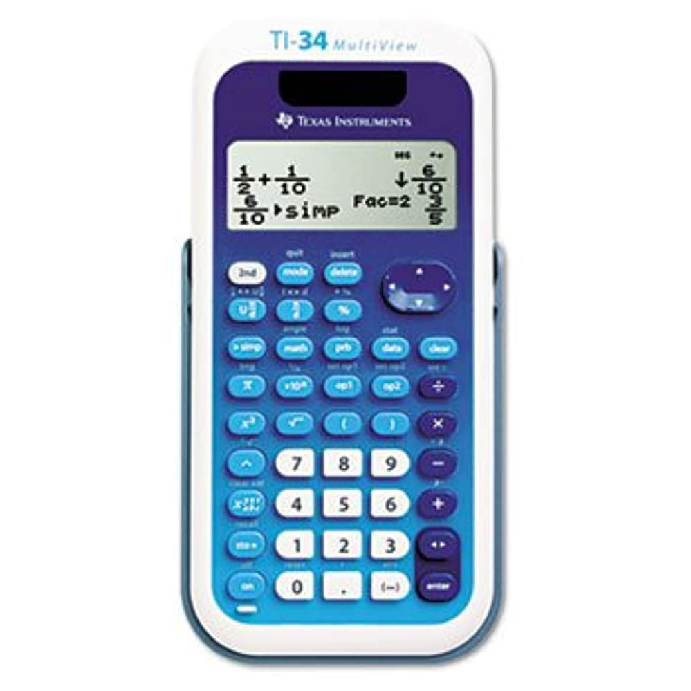 背骨練習した知覚するTexas Instruments ti-34?Multiview Scientific Calculator、16桁LCD