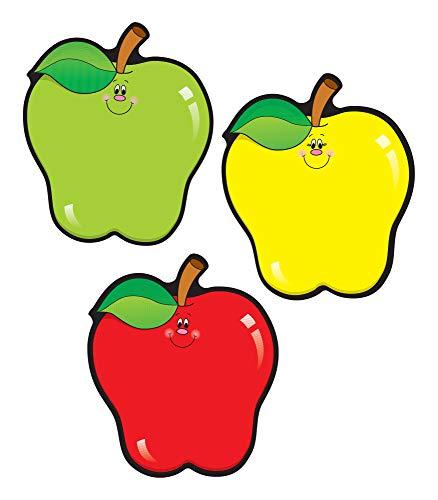 Carson Dellosa – Apples Colorful Cut-Outs, Fall Classroom Décor, 36 Pieces, Assorted Designs, Multicolor (5555)