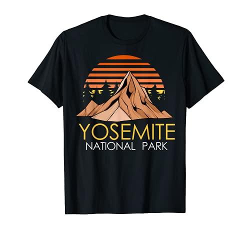 Vintage Retro Yosemite National Park Women Men Hiking TShirt Camiseta