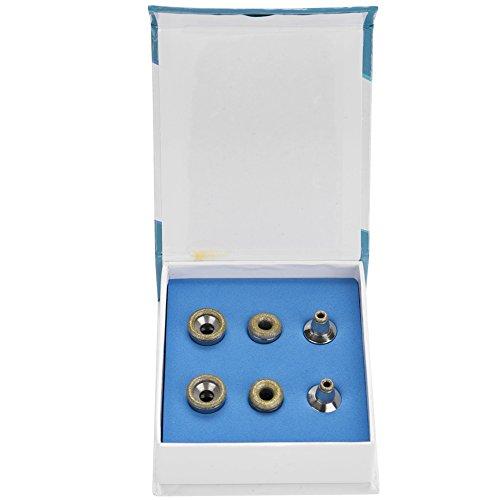 Jeu de forets diamantés - Accessoires de soins de la peau Microdermabrasion Delaman 6Pcs de rechange, Filtre professionnel en acier inoxydable pour embouts de dermabrasion