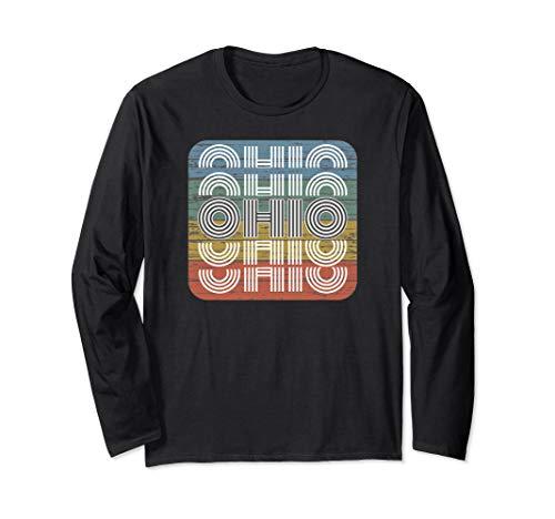 Buckeye State of Ohio. State Ohio Retro Distressed Ohio Long Sleeve T-Shirt