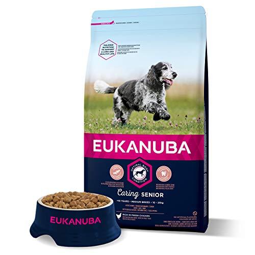 Eukanuba Senior Chien Nourriture pour chiens de taille moyenne riche en poulet frais pour l'état Optimal du corps de votre chien 3kg