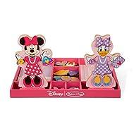 Melissa & Doug Minnie & Daisy Wooden Magnetic Dress-Up