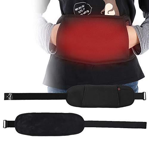 Calentador eléctrico Cinturón de soporte de cintura, Cinturón de calor USB Cinturón...