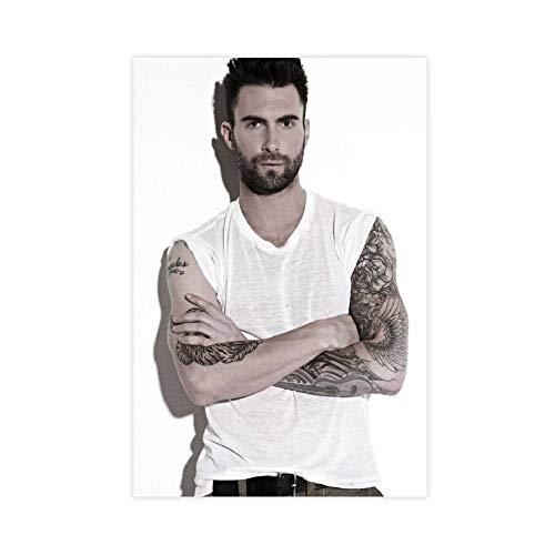 Cantante americano, cantautore, attore, Adam Levine, (11) poster su tela per camera da letto, sport, paesaggio, ufficio, decorazione per la stanza da letto, 60 x 90 cm, stile Unframe-1